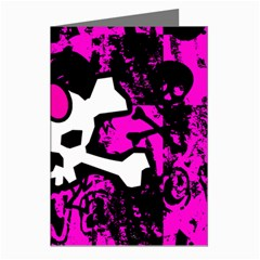 Punk Skull Princess Greeting Card from ArtsNow.com Left
