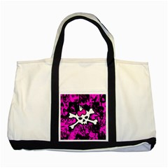 Punk Skull Princess Two Tone Tote Bag from ArtsNow.com Front