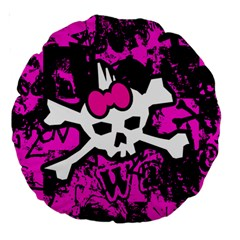 Punk Skull Princess Large 18  Premium Round Cushion  from ArtsNow.com Front