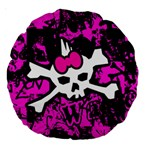 Punk Skull Princess Large 18  Premium Round Cushion  from ArtsNow.com Back