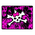 Punk Skull Princess Double Sided Fleece Blanket (Small)