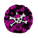 Punk Skull Princess Standard 15  Premium Flano Round Cushion  from ArtsNow.com Back