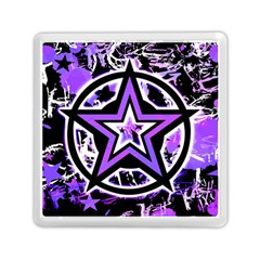 Purple Star Memory Card Reader (Square) from ArtsNow.com Front
