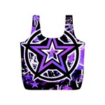 Purple Star Full Print Recycle Bag (S) from ArtsNow.com Back