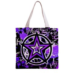 Purple Star Zipper Grocery Tote Bag from ArtsNow.com Front