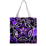Purple Star Zipper Grocery Tote Bag from ArtsNow.com Back