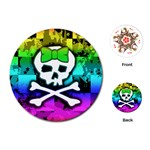 Rainbow Skull Playing Cards Single Design (Round)