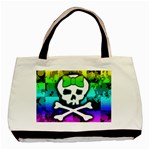 Rainbow Skull Basic Tote Bag (Two Sides)