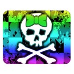 Rainbow Skull Double Sided Flano Blanket (Large) from ArtsNow.com  Blanket Back