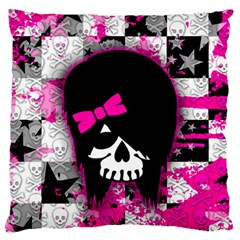 Scene Kid Girl Skull Large Flano Cushion Case (One Side) from ArtsNow.com Front