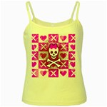 Skull Princess Yellow Spaghetti Tank