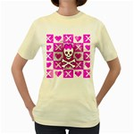 Skull Princess Women s Yellow T-Shirt