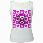 Skull Princess Women s White Tank Top