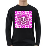Skull Princess Long Sleeve Dark T-Shirt