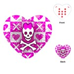 Skull Princess Playing Cards Single Design (Heart)
