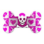 Skull Princess Dog Tag Bone (Two Sides)