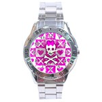 Skull Princess Stainless Steel Analogue Watch