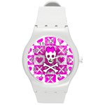 Skull Princess Round Plastic Sport Watch (M)