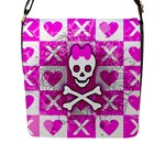 Skull Princess Flap Closure Messenger Bag (L)