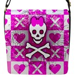 Skull Princess Flap Closure Messenger Bag (S)