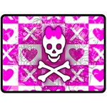 Skull Princess Double Sided Fleece Blanket (Large)