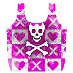 Skull Princess Full Print Recycle Bag (XL)
