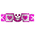 Skull Princess Satin Scarf (Oblong)