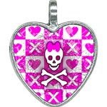 Skull Princess Heart Necklace