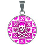 Skull Princess 25mm Round Necklace
