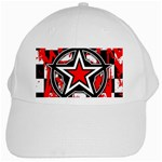 Star Checkerboard Splatter White Cap