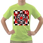 Star Checkerboard Splatter Green T-Shirt