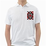 Star Checkerboard Splatter Golf Shirt