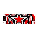 Star Checkerboard Splatter Sticker Bumper (10 pack)