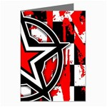 Star Checkerboard Splatter Greeting Cards (Pkg of 8)