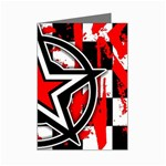 Star Checkerboard Splatter Mini Greeting Cards (Pkg of 8)