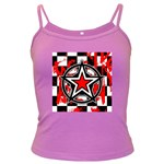 Star Checkerboard Splatter Dark Spaghetti Tank
