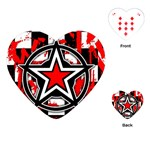 Star Checkerboard Splatter Playing Cards Single Design (Heart)