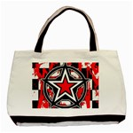 Star Checkerboard Splatter Basic Tote Bag (Two Sides)