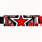 Star Checkerboard Splatter Large Bar Mat