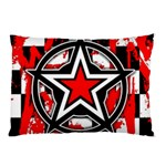 Star Checkerboard Splatter Pillow Case
