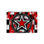 Star Checkerboard Splatter Cosmetic Bag (Medium)