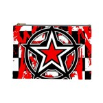 Star Checkerboard Splatter Cosmetic Bag (Large)
