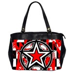 Star Checkerboard Splatter Oversize Office Handbag (2 Sides)