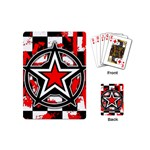 Star Checkerboard Splatter Playing Cards Single Design (Mini)