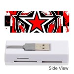 Star Checkerboard Splatter Memory Card Reader (Stick)
