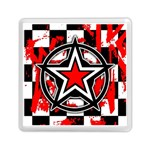 Star Checkerboard Splatter Memory Card Reader (Square)