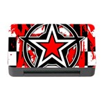Star Checkerboard Splatter Memory Card Reader with CF