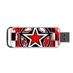 Star Checkerboard Splatter Portable USB Flash (One Side)