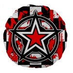 Star Checkerboard Splatter Large 18  Premium Round Cushion