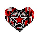 Star Checkerboard Splatter Standard 16  Premium Heart Shape Cushion